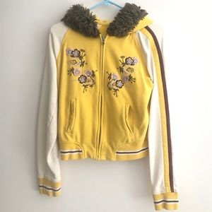 Lucky Brand Japanese Embroidered Hoodie, Size XS